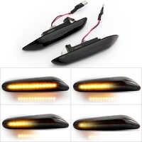 1 par coche de señal de vuelta de las luces de LED indicador de giro intermitente lámpara de señal de marcador lateral para bmw E90 E91 E92 E93 E60 E87 E82 E46