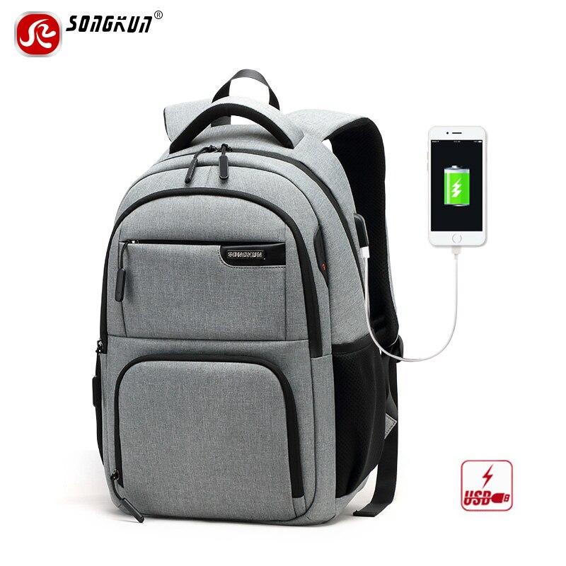Songkun USB Charge Anti-theft Backpacks Travel Business Laptop Backpack Men Schoolbag For Teenagers Waterproof Women Backpacks songkun usb charge backpack printing backpack men travel backpack waterproof anti theft laptop backpacks women mochila
