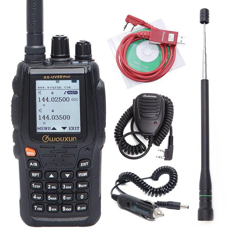 Wouxun KG UV8D Plus Walkie Talkie Duplex Cross Band Repeater 999 Channels Multi functional DTMF VHF