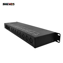 Stage Light Controller DMX512 Splitter Light Signal Amplifier Splitter 8 way DMX Distributor for stage Equipment