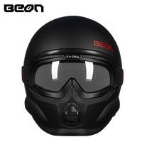 BEON тактическая маска moto rcycle шлем 3/4 открытым лицом Ретро moto шлемы, каски Casco moto cicleta de capacetes ECE человек Женский шлем