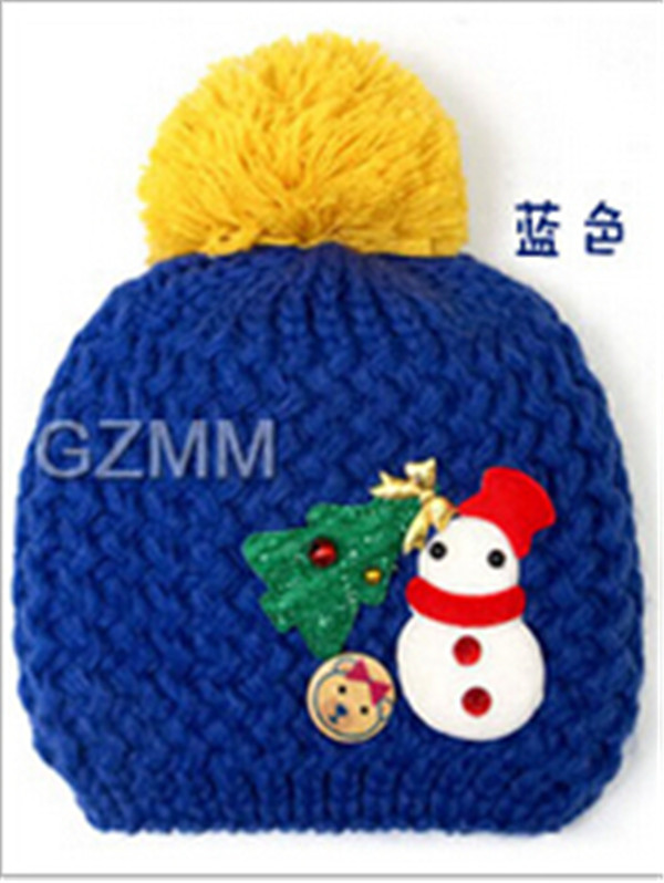 2015 Lovely Baby Christmas Hats Kids Boy Girl Crochet Beanie Hats ...