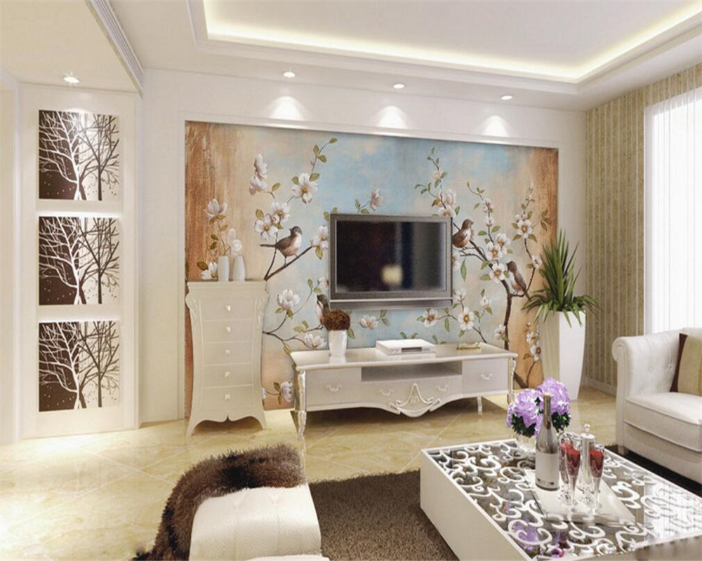 Peach Living Room Beibehang Customize Any Size 3d Living Room Wallpaper Modern