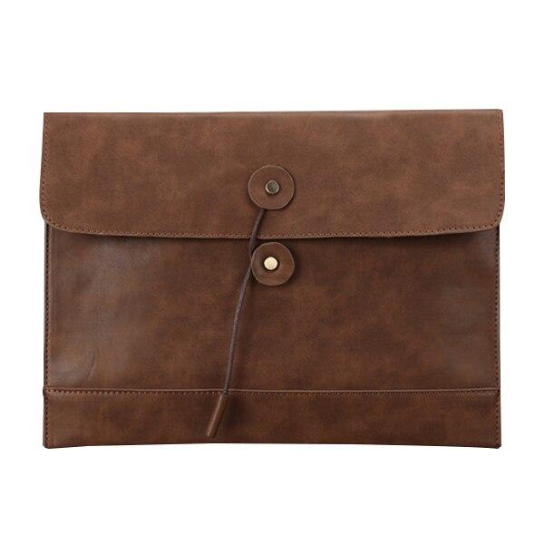 Marrón claro de LA PU sección transversal de los hombres de cuero retro casual de negocios bolso del archivo maletín bolsa de bolsa de la celebración de 35x25x2 cm
