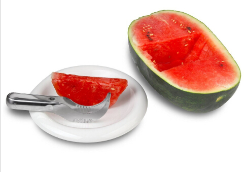 Watermelon Slicer Corer Stainless Steel Fruit Peeler Faster Melon Cutter-Useful & Smart Kitchen Gadget B018-4