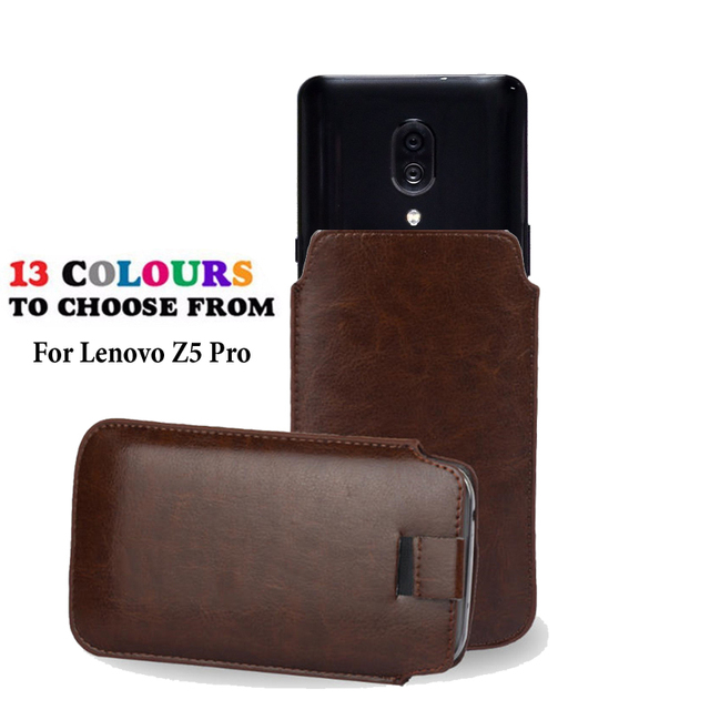 Leather Pouch Coque For lenovo Z5 Pro (GT) Case Pocket Rope Holster Tab Pouch Cover Accessories Phone Bag Case