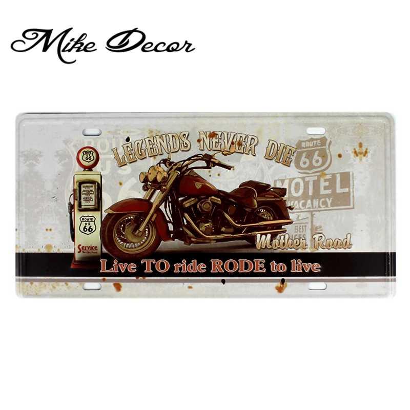 [Mike86] leggenda DEL MOTORE Route 66 decorazione Pittura Murale Retro del Mestiere Del Regalo targa in metallo Placca decorazione della Casa D-632 ordine Della Miscela 30*15 CENTIMETRI