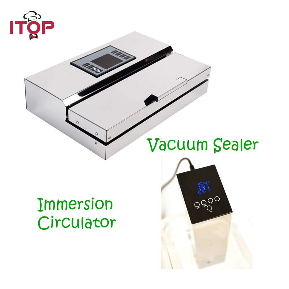 ITOP 2pcs/set Vacuum Sealer and Sous Vide Film Sealer Immersion Calculator Vacuum Packing Machine Food Processors 110V/220V