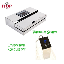 ITOP 2pcs/set Vacuum Sealer and Sous Vide Film Sealer Immersion Calculator Vacuum-packed Food Processor