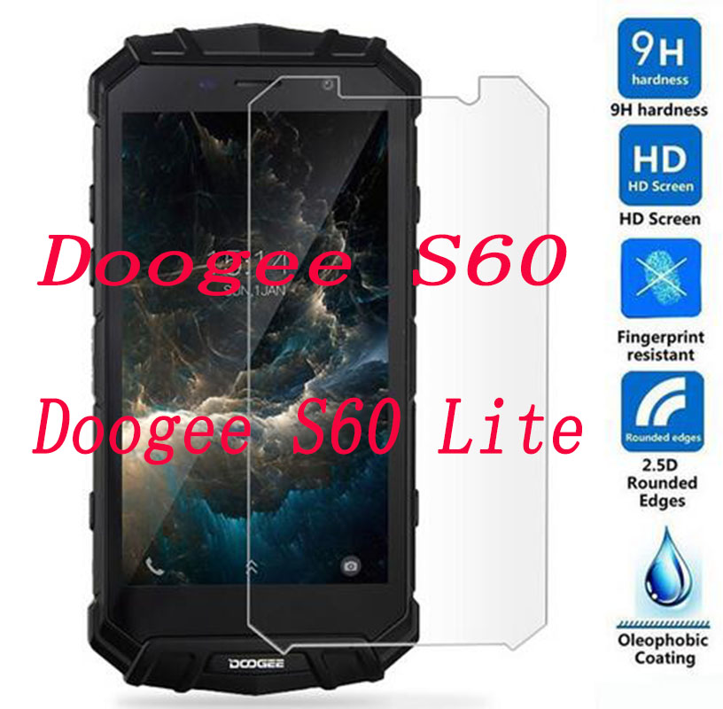 2PCS Tempered Glass  9H Explosion-proof Protective Film Screen Protector Mobile Phone For Doogee S60 Lite  / S60  S60LITE 5.2