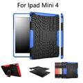 Hybrid Стенд Футляр PC + TPU Резиновая Броня Чехол Для APPLE iPad Mini 4 Защитный Чехол Чехол + Экран Пленка + ручка + OTG свободный корабль
