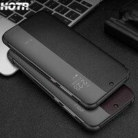 Genuine Leather Free Answer Smart Case for Huawei P10 P20 Pro Sleep Dormancy Flip Awaken Full Cover for Huawei Mate 9 10 20 Lite|Flip Cases|   -