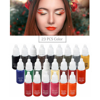 2019 NEW 23 bottles of tattoo ink 1/2oz pigment permanent makeup easy to wear eyebrows eyeliner lip art paint tattoo beauty tool