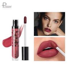 Pudaier Matte Liquid Lipstick Women Sexy Makeup Long Lasting Lip Tint Levre gloss Batom Mate Nude Color Red Gloss Lady