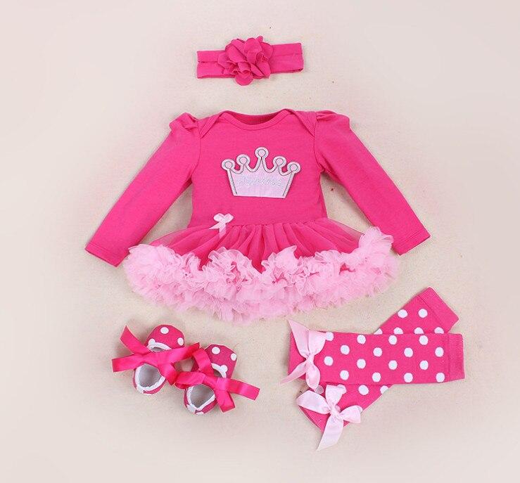 Dětské oblečení Sady Crown Rompers Lace Tutu šaty Jumpsuit - Oblečení pro miminka
