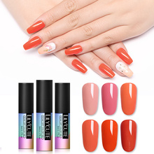LILYCUTE Coral Red Orange Nail Art Gel 5ML Pure Color UV LED Polish Long-lasting Macaron Soak off Varnish