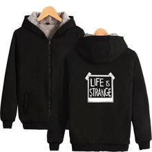 Game Life is Strange Thick Warm Sweatshirt With Hat Whatif Print Hoodie Winter Life is Strange Max Caulfield Thick Hoodie