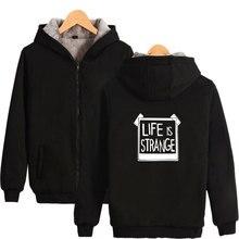 Толстовка с капюшоном Game Life is Strange, теплая толстовка с капюшоном и принтом, теплая толстовка на зиму