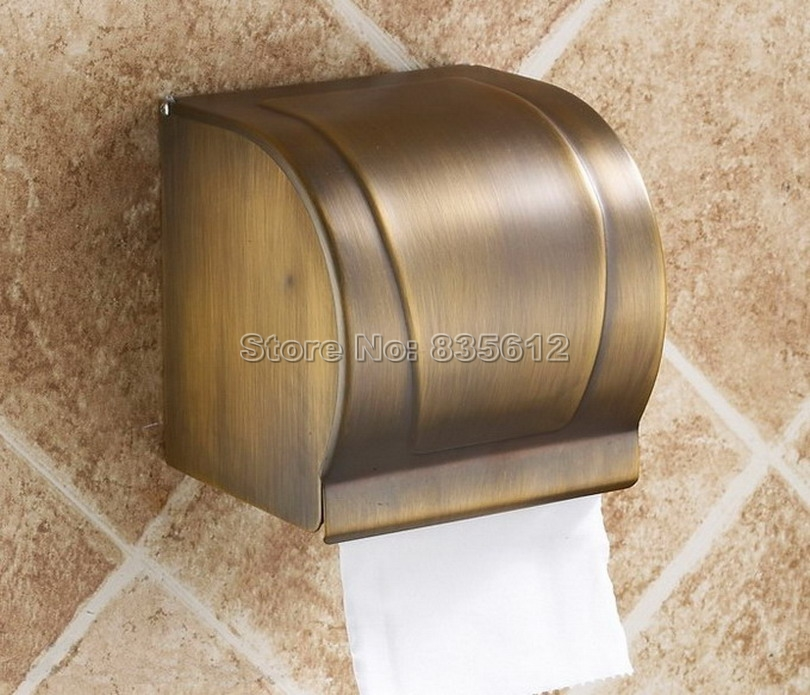 Antique brass paper box roll holder toilet paper holder tissue box Bathroom Accessories Wall mounted Wba303 retro kitchen toilet paper holder roll tissue holder bathroom accessories antique brass wall mount eu stock