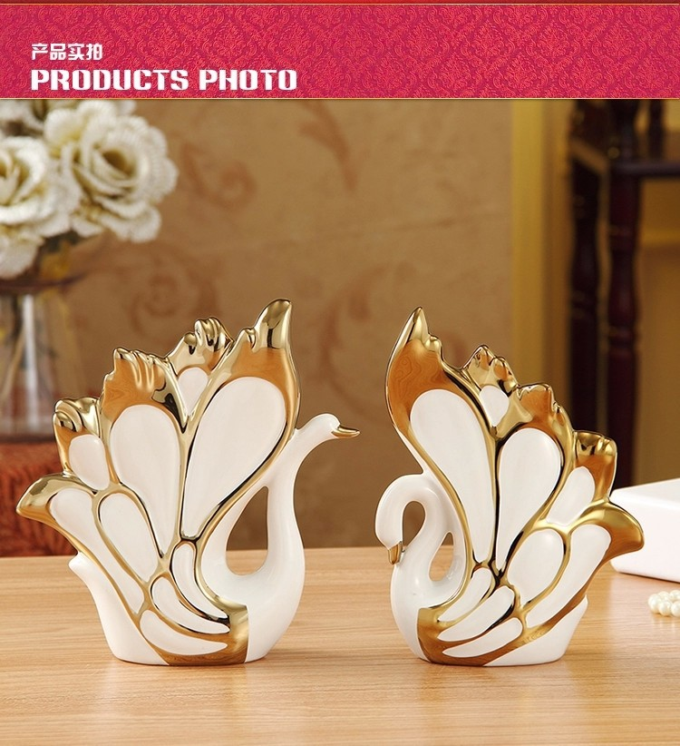 Modern ceramic swan ornaments home decorations wedding gift ideas and practical wedding gifts