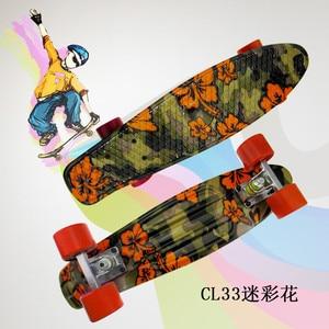Image 5 - mini Cruiser omplete Skateboard Four wheel Skate board adult&children small skateboarding peny Board banana Long Board