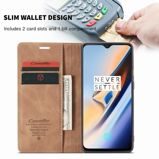 Cases For OnePlus 7 Pro Cover Case Luxury Magnetic Flip High Quality Vintage Wallet Leather Phone Bags For One Plus 7 7pro Coque