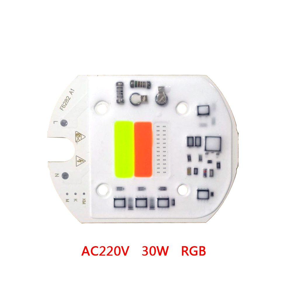 10PCS LOT RGB LED COB CHIP LAMP AC220V 30W smart ic no driver for diy floodlight