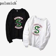 цены 2019 New Velvet Fashion Long Sleeve Casual Sweatshirt Print Riverdale Print Kawaii Apparel Sweatshirt, Kpop Sweatshirt, Hixtape,