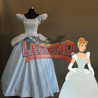Adult Cinderella Dress Blue Women Princess Fancy Costume Cinderella COSTUME CUSTOM MADE