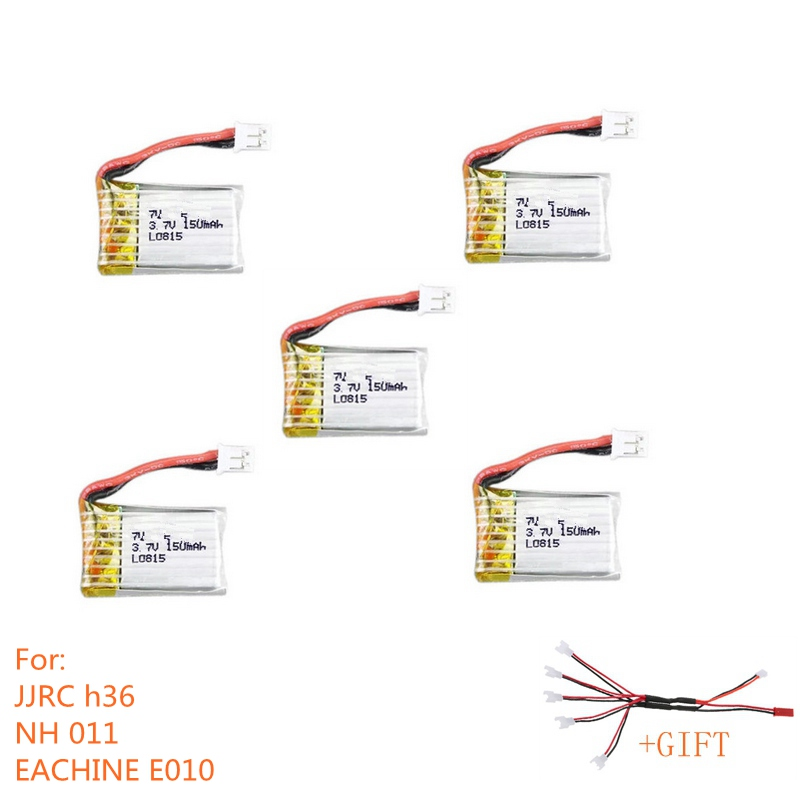 5PCS Battery For JJRC H36 EACHINE E010 Battery RC Drones Spare Parts With Lipo Battery 3.7v Accessories Quadcopter Kits original accessories mjx b3 bugs 3 rc quadcopter spare parts b3 024 2 4g controller transmitter