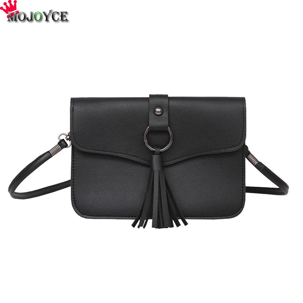 2017 Women Casual Mini Messenger Bags Cute Simple Ladies Clutches PU Leather Female Gilrs Small Tassel Crossbody Shoulder Bag hot sale 2017 vintage cute small handbags pu leather women famous brand mini bags crossbody bags clutch female messenger bags
