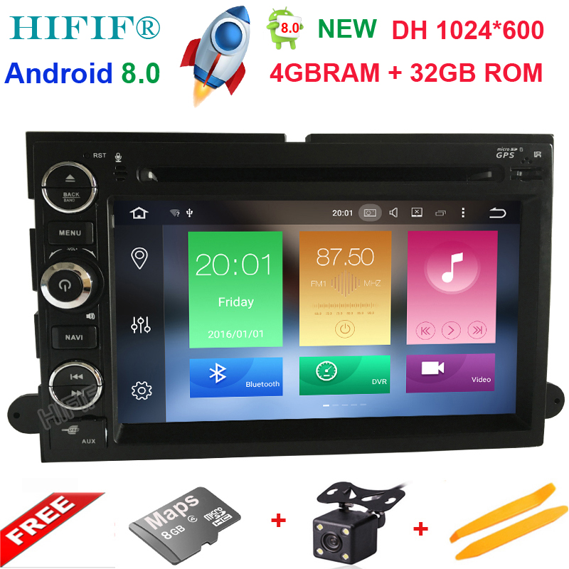HIFIF Android 8.0 Octa Cores Car DVD Player For FORD/Focus/S-MAX/Mondeo/C-MAX/Galaxy 2 Din 7 Inch 3G/4G Wifi 32G ROM GPS Radio