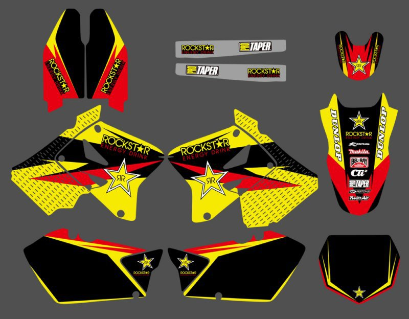 New Style TEAM DECALS STICKERS Graphics Kits For Suzuki RM125 RM250 RM 125 250 2001 2002