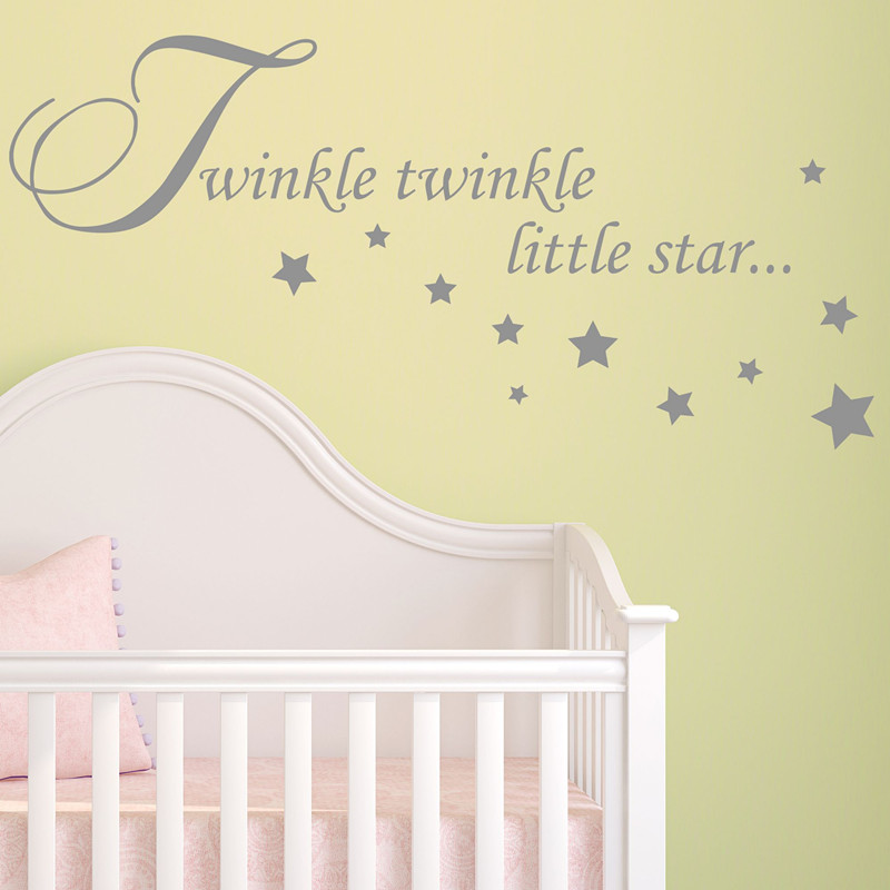 Poster Wall Decor New Arrival Baby Living Room Decals Twinkle Little ...