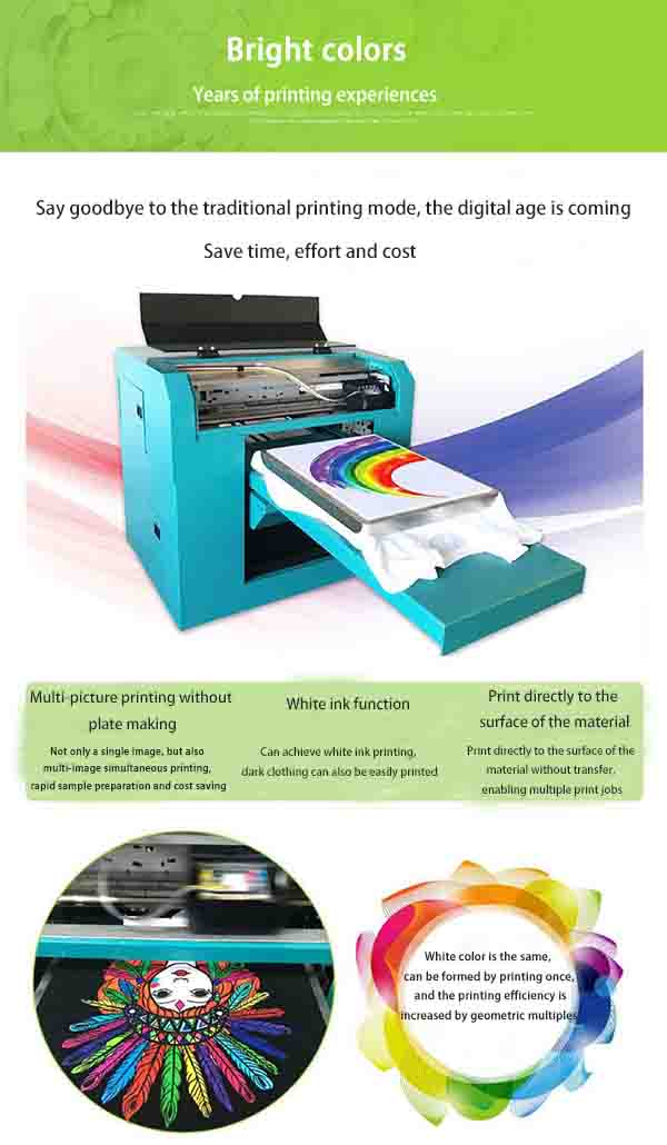 507bea399 Shirt printer digital clothing printing machine small A3 printer canvas bag  printer