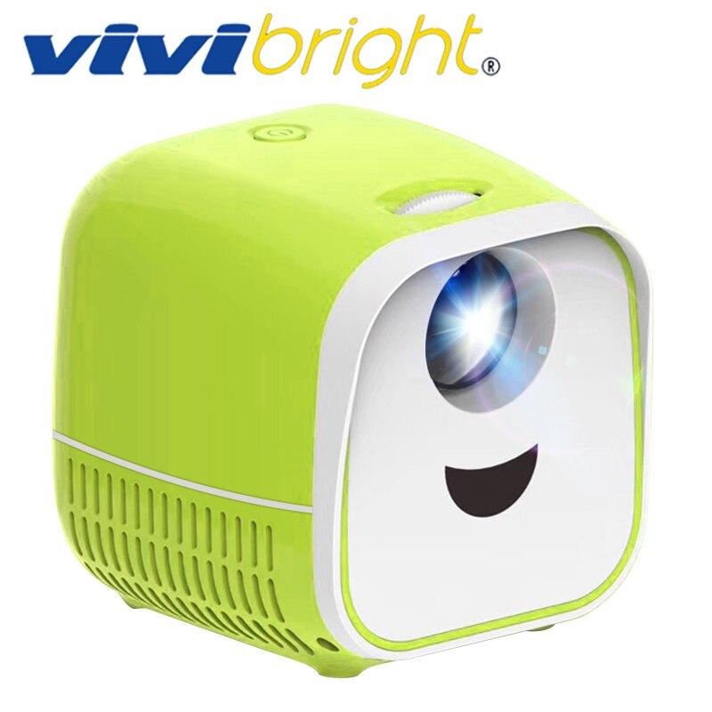 VIVI Bright Kids Mini Projector L1, Support Full HD 1080P,Newest Mini Children's Mini Early Education Projector, Cartoon Story,