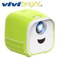 ViviBright Original Mini Portable Projector L1,1000Lumens, Support Full HD1080P,HDMI USB Mini beamer, Home Media Player,