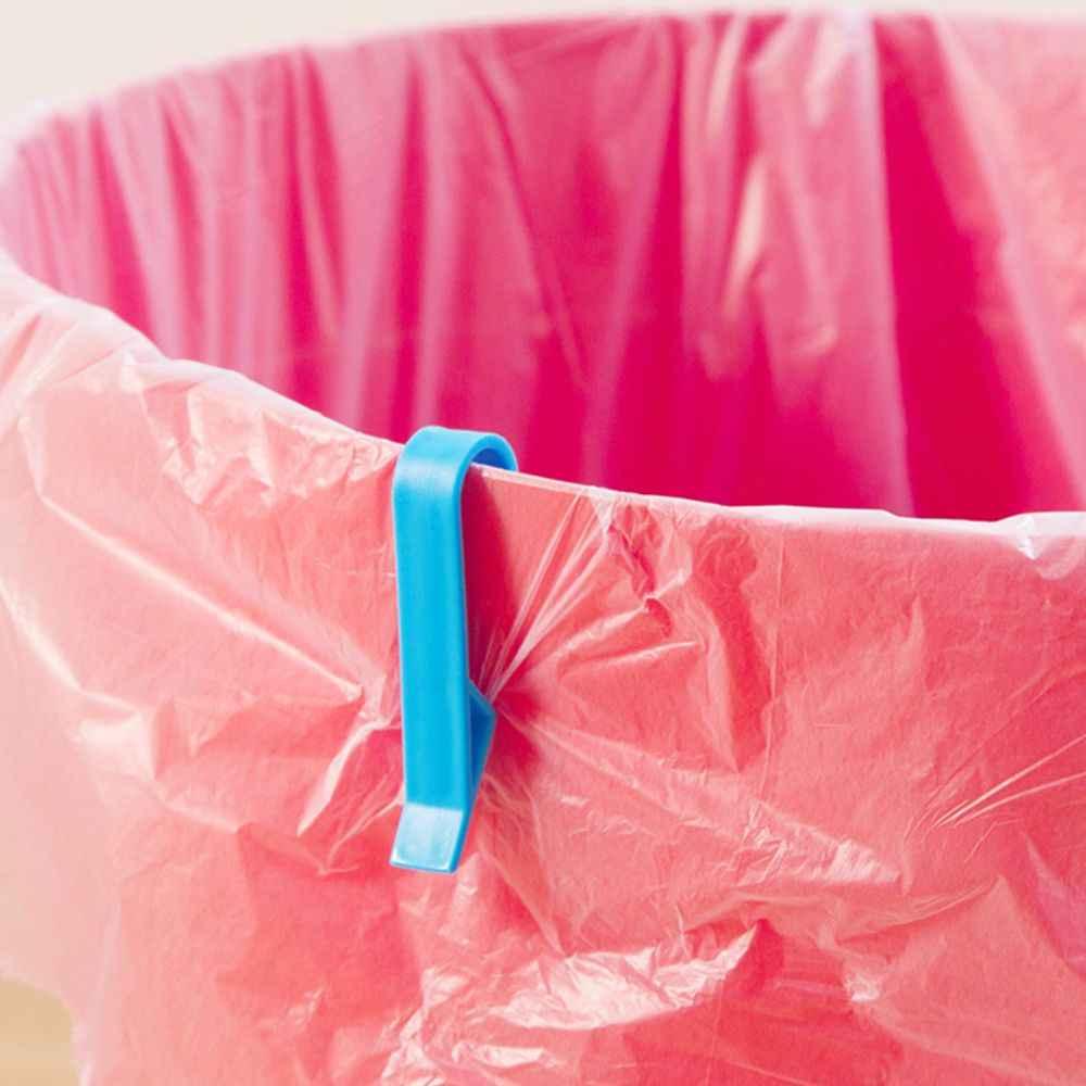 2Pcs Cesto de Lixo Saco de Lixo Clipe Fixo para Lixo Lixo Lixo Pode Titular Braçadeira