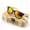 Bobo pássaro de madeira clássico óculos de sol das mulheres com armação de plástico pernas em caixa de madeira de bambu UV400 proteger lentes polarizadas BS007
