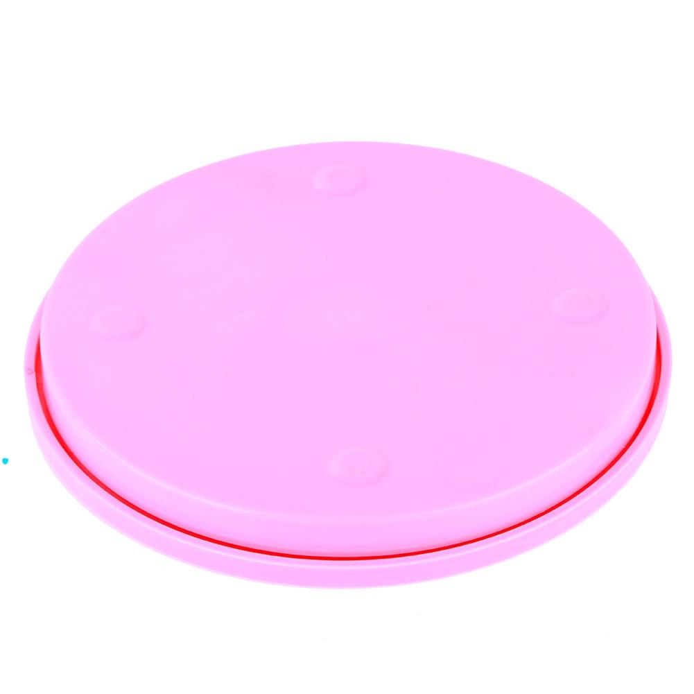 Small Cake Swivel Plate Revolving Decoration Stand Platform Turntable 14cm Round Rotating Cake Swivel Christmas Baking Tool