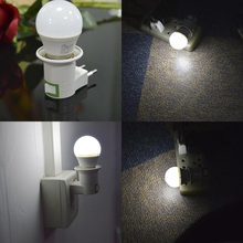 ON OFF E27 LED lamp Base Holder with Europe Bulb E27 Socket 5W Led Night Light(China)