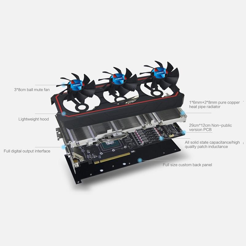 Yeston GeForce GTX 1060 GPU 6GB GDDR5X 192 bit Gaming