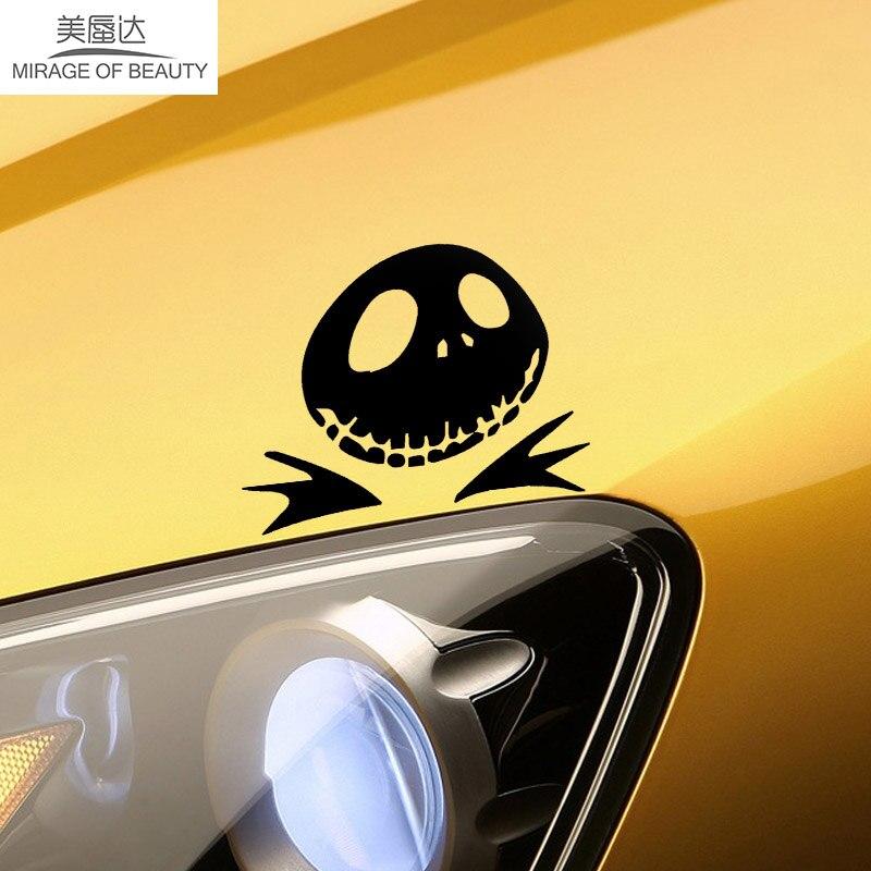 Jack Nightmare Before Christmas Funny Car Sticker for Truck Window Door Motorcycles Laptop Kayak Vinyl Decal Pumpkin Halloween