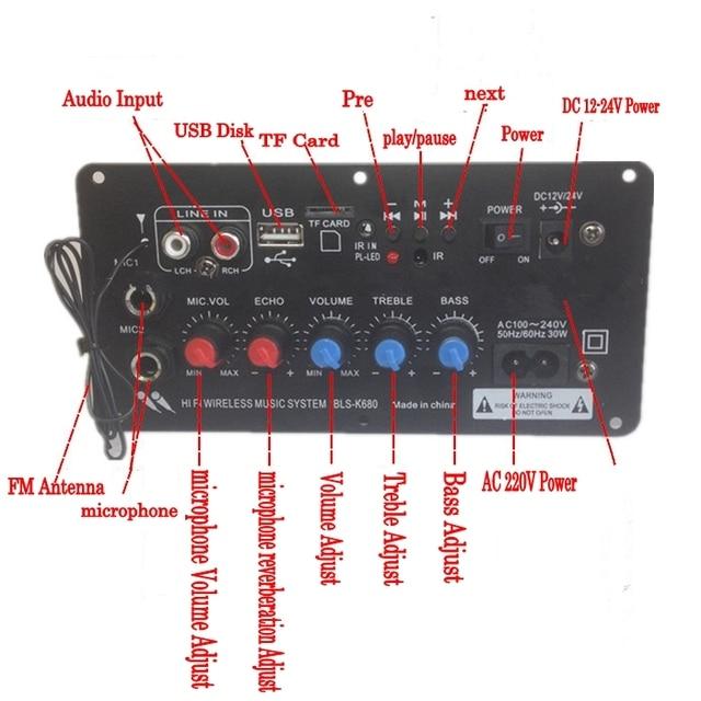 Amplifier Board Subwoofer Karaoke DIY Trolley speaker 3