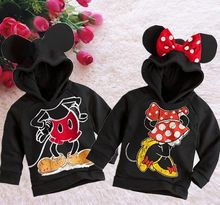 New Fashion Cute Kids Girls Boys Min nie Mouse Hooded Jacket Sweater Hoodie Coat 1-6Y