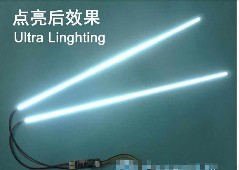 Бесплатная доставка 50 шт./партия 19 ''W 425 мм Регулируемая яркость светодиодный комплект для подсветки, обновление 19inch-wide lcd ccfl светодиодный подсветка