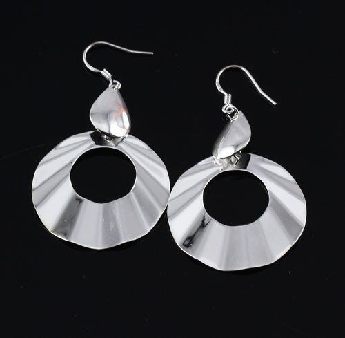 wholesale new fashion jewelry circular glistens the banana plant banana leaf earring 925 pure silver earring female accessories