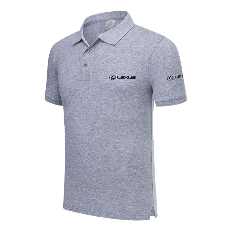 Polo   Shirt LEXUS logo Casual Solid shirt Short Sleeve Cotton printed   Polos