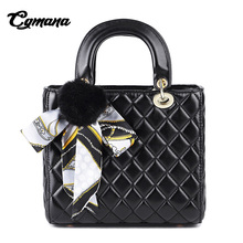 CGmana Women Handbags 2018 Luxury Bags Designer Famous Brand Lattice Soft Leather Shoulder Ladies Tote Bag
