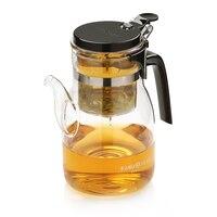 Frete grátis kamjove k-208 xícara de chá 900 ml bule de chá elegante copo de vidro jogo de chá copo de vidro
